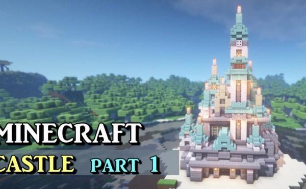 【マインクラフト】大きなお城の作り方!シンデレラ城をモチーフにした見た目の建築!