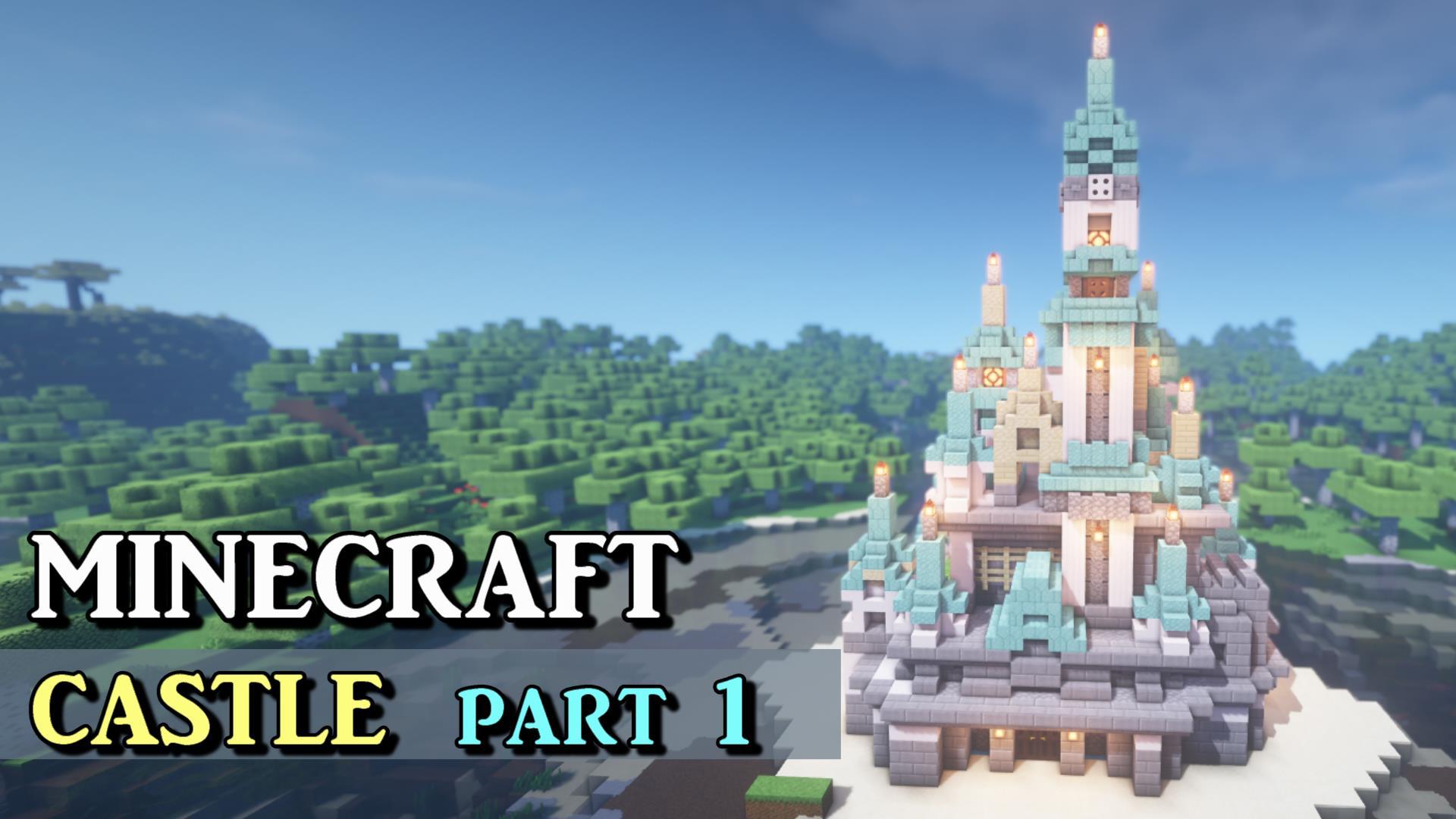 マインクラフト 大きめな洋風のお城の作り方 シンデレラ城風!