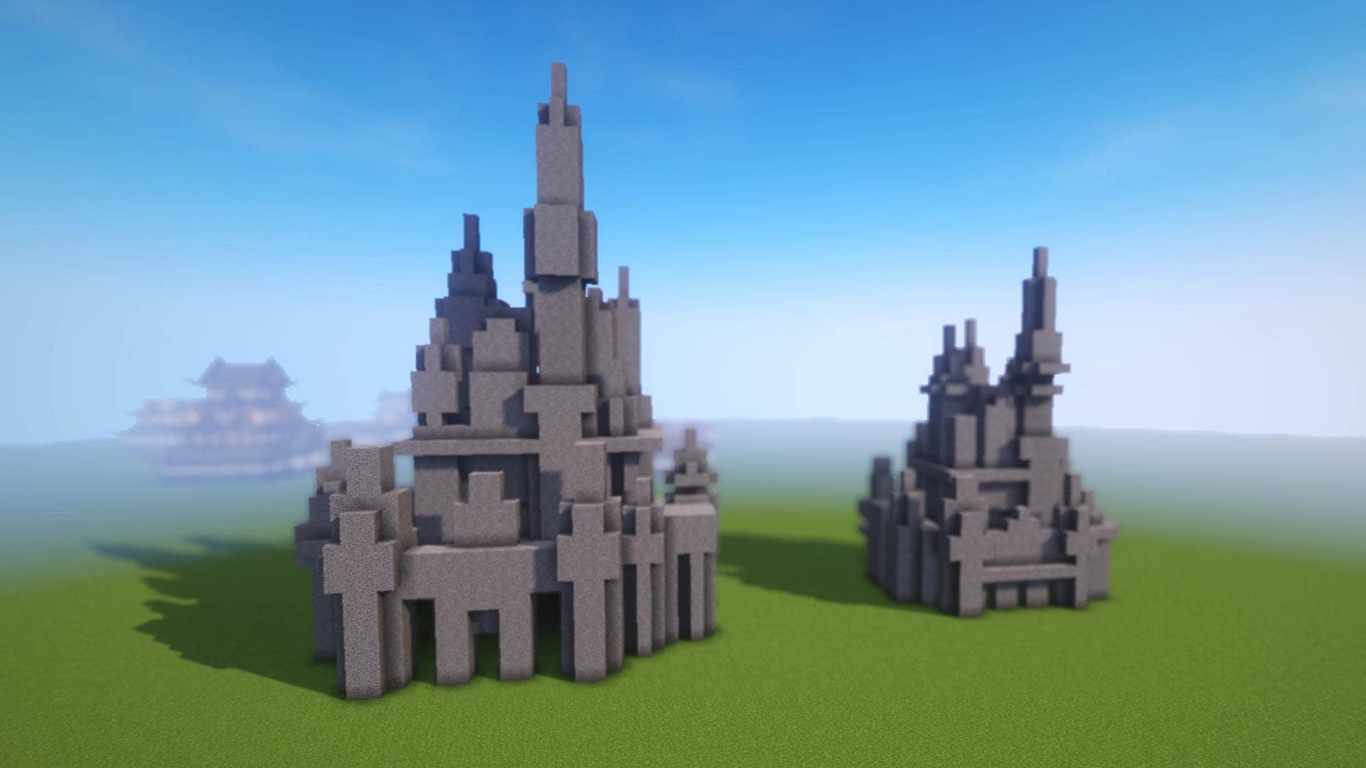 マインクラフト 洋風のお城の作り方1