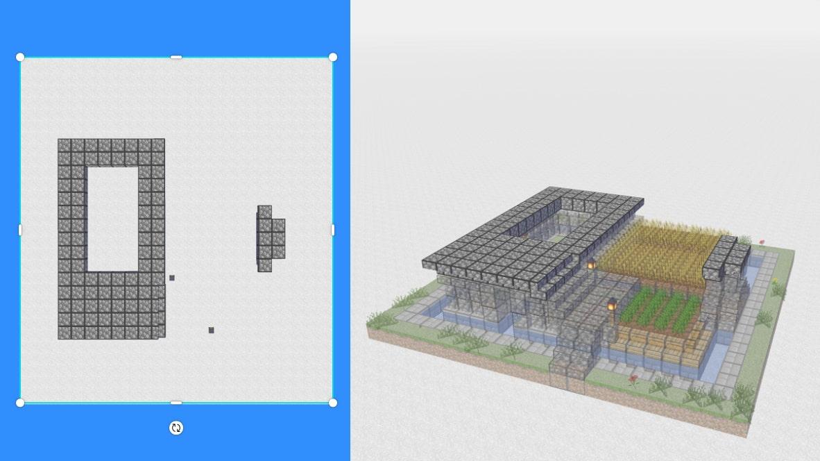 マインクラフト サバイバル拠点・洋風建築の作り方!設計図3