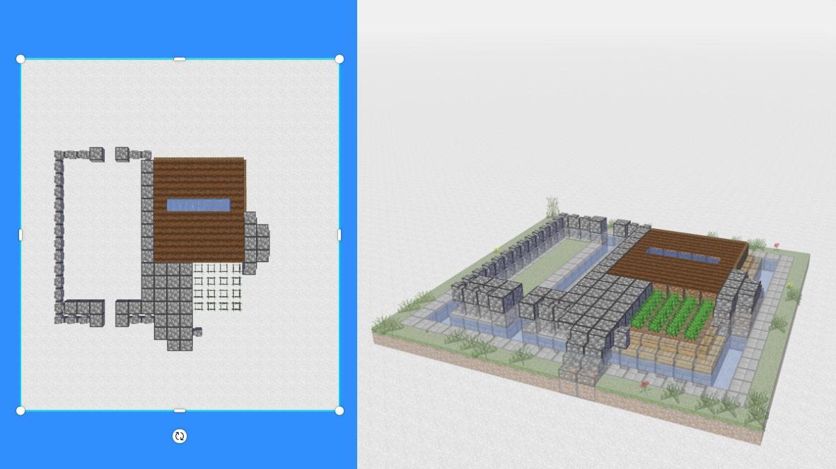 マインクラフト サバイバル拠点・洋風建築の作り方!設計図4