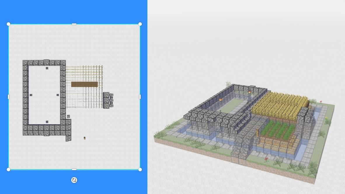 マインクラフト サバイバル拠点・洋風建築の作り方!設計図5