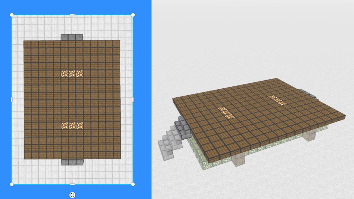 マインクラフト 和風建築の作り方!設計図3