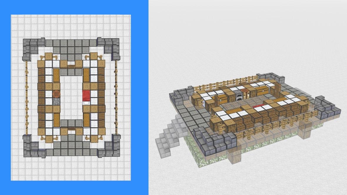 マインクラフト 和風建築の作り方!設計図4