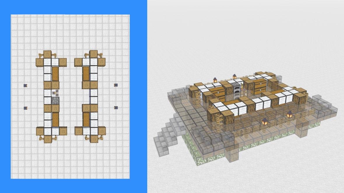 マインクラフト 和風建築の作り方!設計図5
