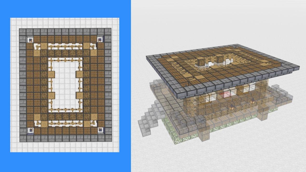 マインクラフト 和風建築の作り方!設計図8