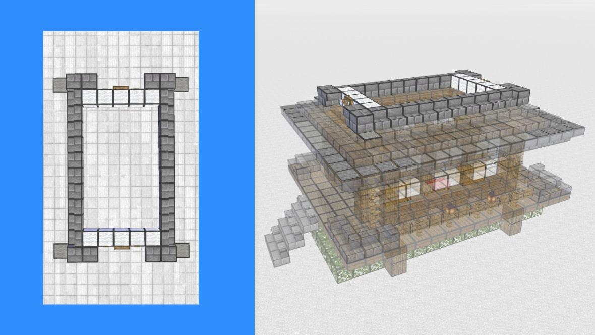 マインクラフト 和風建築の作り方!設計図10
