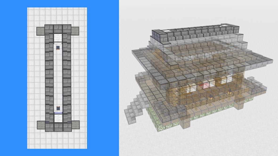 マインクラフト 和風建築の作り方!設計図12