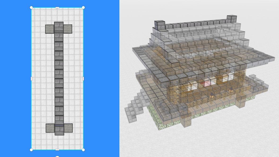 マインクラフト 和風建築の作り方!設計図13