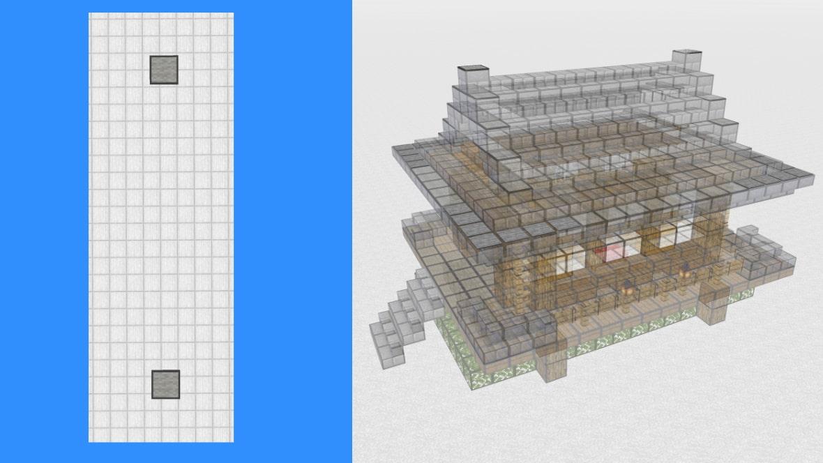 マインクラフト 和風建築の作り方!設計図14